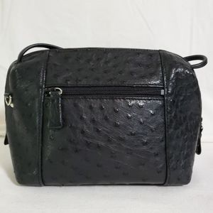Ostrich Leather Satchel Vintage